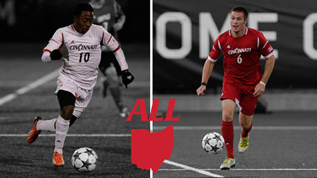 Three Bearcats earned postseason honors from the coaches in the Ohio Collegiate Soccer Association